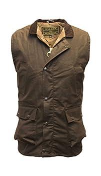 Walker and Hawkes Men s Wax Bodywarmer Waistcoat Countrywear Gilet XX-Large Brown