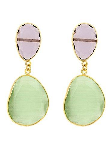 Córdoba Jewels | Pendientes en plata de Ley 925. Diseño Essencia Luxury Amatista Esmeralda