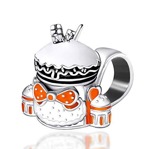 GaLon Encantos Mujeres S925 Plata Perlas Bolsa Escuela de la Historieta de Bricolaje Artesanal de Joyas Compatible con Pandora y Pulseras Europeas Collares