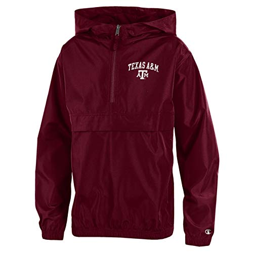 NCAA Texas A&M Aggies Youth Packable Jacket, X-Large, Maroon