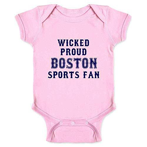 Pop Threads Wicked Proud Boston Sports Fan Pink 6M Infant Baby Boy Girl Bodysuit