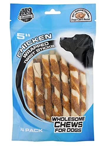 Priority Pet Products K-9 Cookhouse 5' Chicken Wrapped Twist Chews