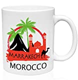 Coffee Mug Marrakech Marruecos 330Ml Taza De Café De Cerámica Duradera Para El Hogar Taza De Cerámica Oficina Unisex Taza De Porcelana Personalizada Blanca Novedad Única Para Té Té