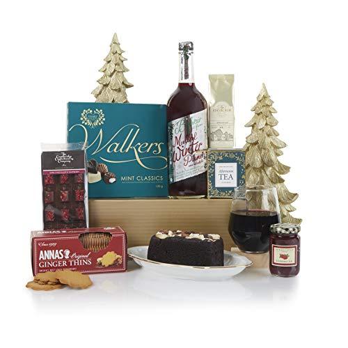 Cesta de productos sin alcohol favoritos de Navidad - Cesta de delicias navideñas llena de golosinas de Navidad y sin alcohol