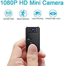 Hidden Camera-1080P Portable Mini Security Camera Nanny Cam with Night Vision/Motion Detection /1200mAh Battery for Home a...