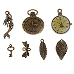 P Prettyia 100 Gram DIY Assorted Color Antique Metal Steampunk Charms Pendant for Crafting, Cosplay Decoration,Jewelry Making Accessories #2