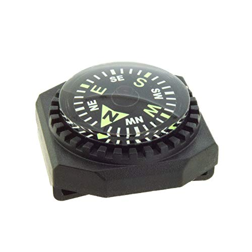 Sun Company Slip-On Wrist Compass - Easy-to-Read Compass for Watch Band or Paracord Survival Bracelet