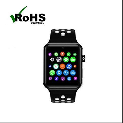 Orologio da polso Bluetooth,Pedometri GPS da corsa Calorie Counter Monitor sonno Chiamata Ricordare Braccialetto Sport con Touch Screen Fotocamera per iPhone Android
