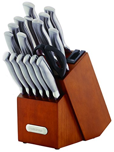 Farberware 18-Piece Forged High-Carbon Stainless Steel Kitchen Knife Block Set