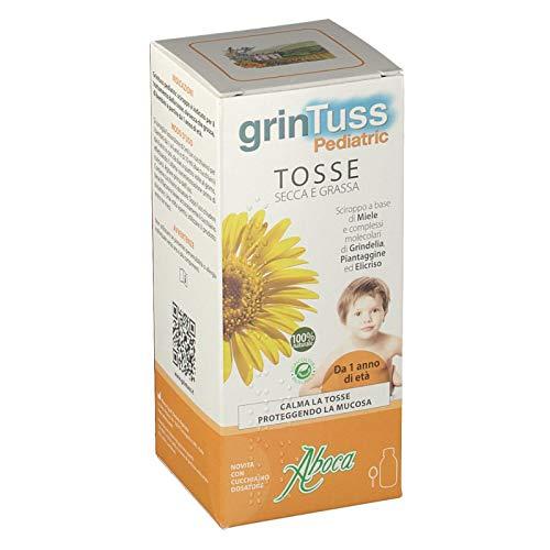 grintuss pediatric sciroppo per bambini per tosse secca e grassa 180g