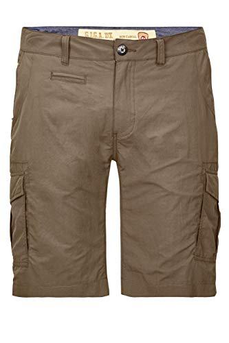 G.I.G.A. DX Herren Bermudas Mendez - Herren Shorts mit seitlichen Taschen - kurze Hose Männer, schlamm, 52