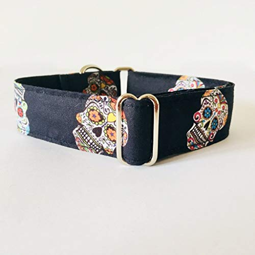 Collar Martingale para Perro Hecho a mano en España - Modelo Calaveras Mexicanas: Amazon.es: Handmade