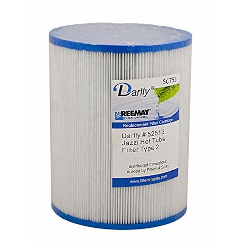 Darlly® Filter Ersatzfilter SC702 Lamellenfilter Jacuzzi Marquis Spas Whirlpool