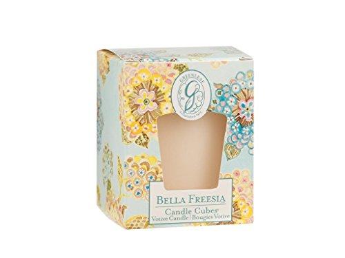 Greenleaf Candle Cube Votiv Bella Freesien, blau, gelb