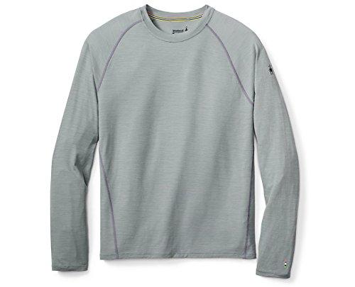 Smartwool Men's Long Sleeve Shirt - Merino 150 Wool Baselayer Pattern Performance Top Light Gray