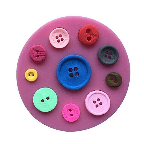 Da.Wa Moule à gâteau en silicone alimentaire en forme de boutons pour décoration de fondant, sucre, chocolat, gelée, glaçons, fondants, ustensiles de cuisine - Couleur aléatoire