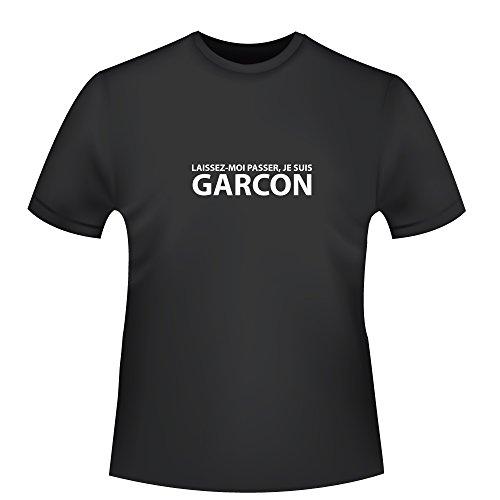 Laissez Moi de passer, je suis Garcon, Homme Coton Biologique T-shirt – Commerce équitable 3XL schwarz