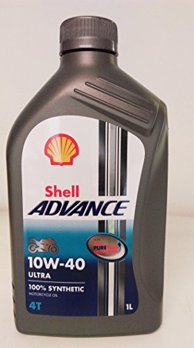 Royal Dutch Shell Schmiermittel 550044447 Shell Advance 4T Ultra Synthetisches Motorrad Öl, 10 W / 40