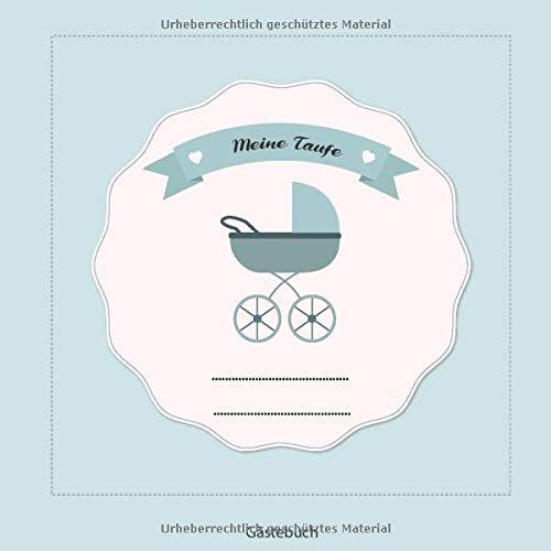 Meine Taufe: Gästebuch und Erinnerungsalbum zur Taufe | für Jungen | Geschenkidee | Paten Onkel |...