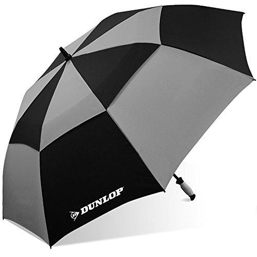 Dunlop Double Canopy Golf Umbrella-7800-dl Blkgry, Black/Gray, 60 IN Michigan