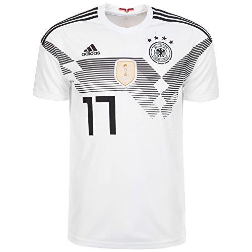 adidas Herren DFB Heim-Trikot Kimmich WM 2018 Fußballtrikot, Weiß/Schwarz, L