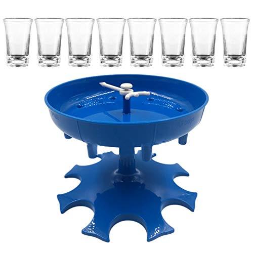 lossomly 8 vasos de chupito y soporte dispensador para rellenar líquidos, dispensador de cócteles, dispensador de bebidas con 8 tazas