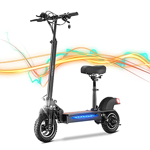 Electric Scooter with Seat, iScooter iX5 Adult E-Scooter Fast, 600W...
