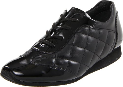 ara Women's Ilana Oxford,Black Quilted Leather,9 M US