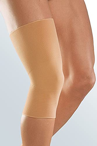 medi Zweizug Kniebandage - Bandage unisex | Größe VI | Kniebandage zur Weichteilkompression | Beidseitig tragbar | caramel