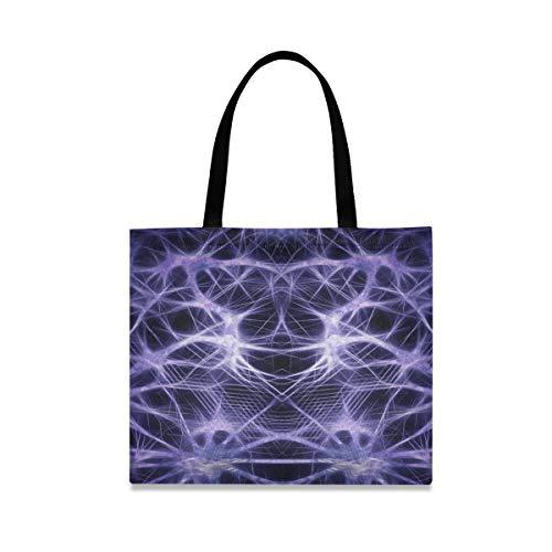 Große Kapazität Zusammenfassung Hi Tech Cyber Computer Lebensmittel wiederverwendbare Handtasche Casual Fashion Einkaufstasche