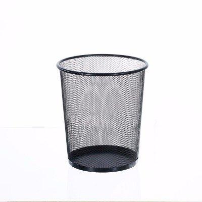 Papeleras XiuxiutianNo Hay Cubierta metálica papeleras de Oficina Dibujo 23.7 * 26.5cm, Negro