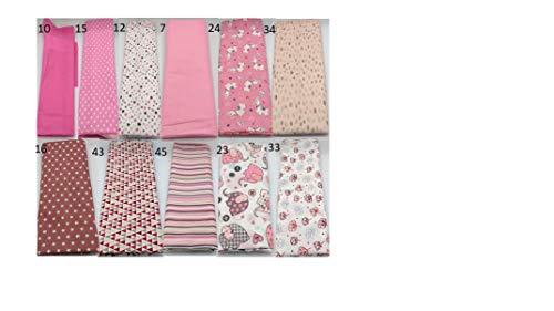 Stoffpaket rosa Kinder verschiedene Größen Baumwolle Stoffreste Webware Patchen Patchwork Baumwollstoff Restepaket unifarben einfarbig uni Kinderstoff Mädchen Elefanten pink Lamas Lama