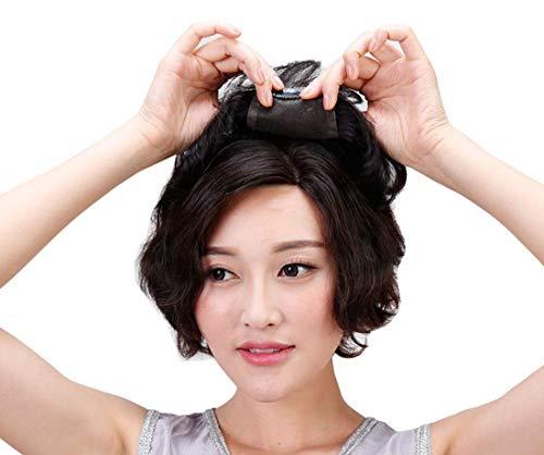 Topjin Womens 'sans couture court Cheveux bouclés Cheveux humains postiches Top Extensions de cheveux
