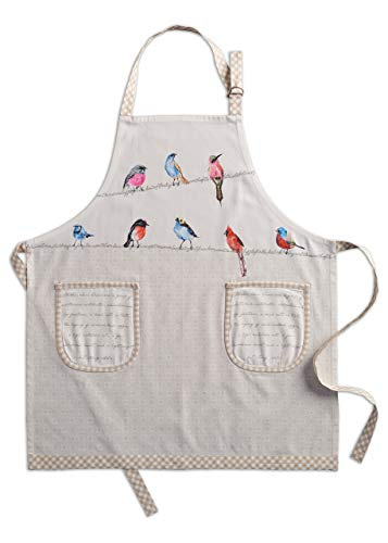 Maison d' Hermine Birdies on Wire 100% Cotton Apron (27.50 Inch by 31.50 Inch) Set of 2 Kitchen towels(20 Inch by 27.5 Inch) and Oven Mitt(7.5 Inch by 13 Inch)/Pot Holder (8 Inch by 8 Inch) Bundle set New Mexico