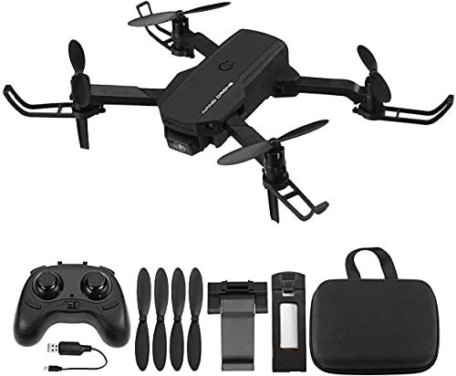 Powerextra RC Mini Drone 720P con Telecamera - Quadcopter Drone Pieghevole WiFi FPV 2.4GHz 3D Flip e Funzione Spin ad Alta Velocità Rotazione à per Bambini e Principianti - Drone con 2 Batteria