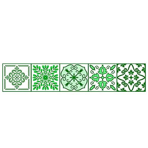 Pegatinas para azulejos de simulación de estilo nórdico, impermeables, autoadhesivas, antideslizantes, cuadradas, para decoración de muebles de cocina, baño, 20 x 100 cm x 1 pieza