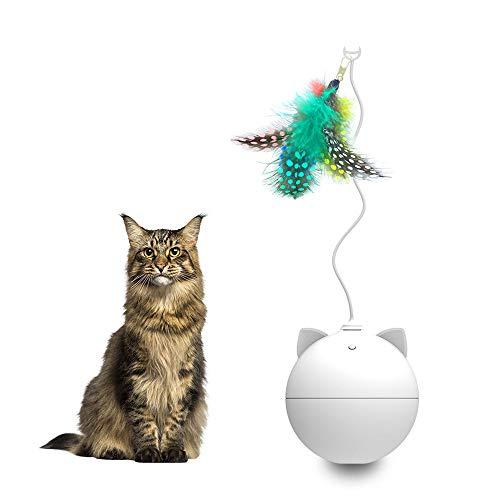 Blusea Katzenspielzeug Interaktive Kugel Automatische Katzenspielzeug Automatische Rollkugel für Katzen mit Buntem Licht