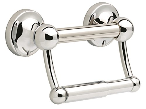 Delta Faucet DF704PC Bath Hardware Accessory Toilet Paper Holder with Assist Bar, Polished Chrome