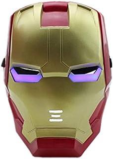Iron Man LED Bright Eyes Shining Sparkle Mask Heroes Superman Mask Christmas Halloween Mardi Gras Carnival Venetian Costum...