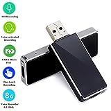 Micoo Digital Diktiergerät, 8GB USB Memory Stick One-Touch Aufnahme, Kleiner und Tragbarer Audio...