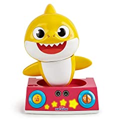 Dance, Play and Learn with the Pinkfong Baby Shark Dancing DJ! Boogie to the beat with 3 interactive games! With Dance Detection Technology, as you move and groove the Baby Shark Dancing DJ will dance with you! The Baby Shark Dancing DJ plays 7 popul...