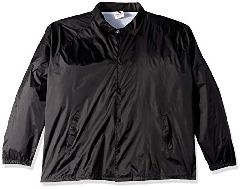 Augusta Sportswear Men's Nylon Coach's Jacket/Lined, Black, XX-Large
