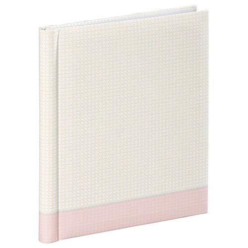 Hama Filigrana Zelfklevend album, fotoalbum met 20 witte pagina's, zelfklevend, voor 40 foto's in het formaat 10 x 15, albumformaat 24 x 29 cm, pastelroze