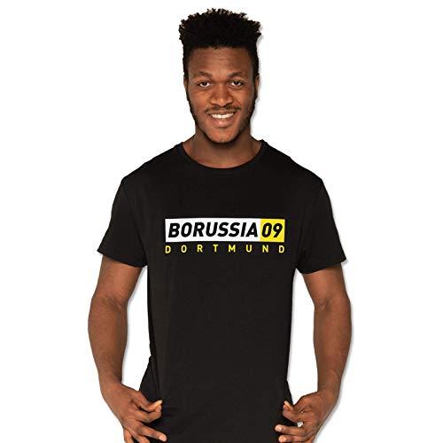 Borussia Dortmund Herren BVB-Borussia09-Basic-T-Shirt T-Shirt, schwarz (Black), XXL