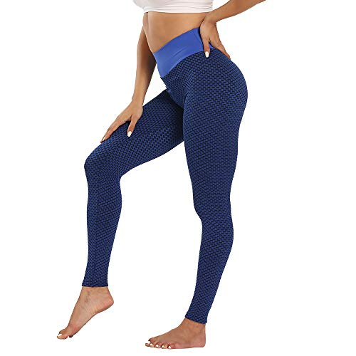 Voqeen Leggings De Gimnasio Push Up Mujer Sin Costuras Scrunch De Cintura Alta Leggins Pantalones De Yoga para Levantamiento De Glúteos, Mallas Deportivas para Correr con Control De Barriga