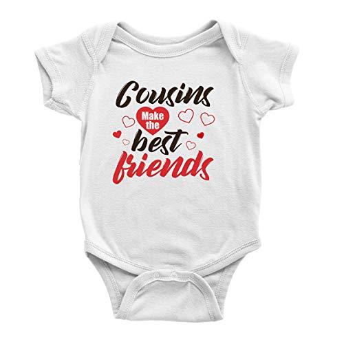 Body unisexe à manches courtes pour bébé - Imprimé amusant avec phrase graphique - Pour garçons et filles - Cousins Make The Best Friends