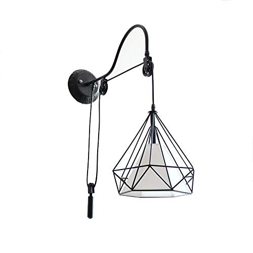HDDD wandlamp van ijzer in industriële stijl Amerikaans creatief restaurant bar café hal woonkamer restaurant slaapkamer wandlamp E27 lantaarn met lichtbron