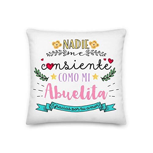 Kembilove Almohada para Abuela – Cojines para Abuelas – Regalos Originales para Abuelas – Cojín con Mensaje Nadie me consiente como mi Abuelita – La Mejor Sorpresa para tu Abuela