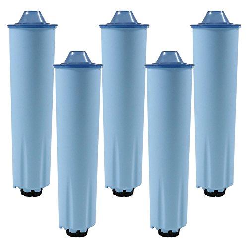5x–Cartucho de filtro de agua para cafeteras automáticas Jura (filtro tinta Blue)