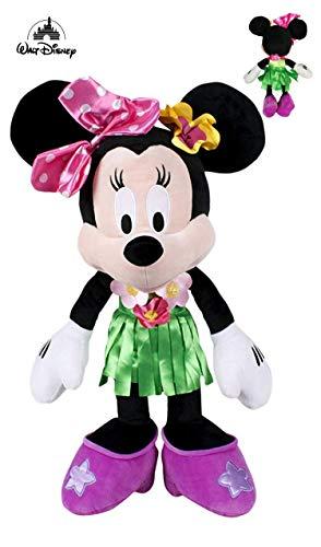 Dsney Famosa Softies - Peluche Minnie ayudantes Felices Vestida de Hawaiana 11'80